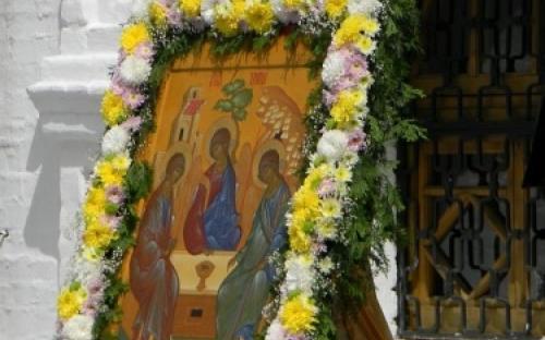 Дивеево. Троицкий собор, праздник Троицы