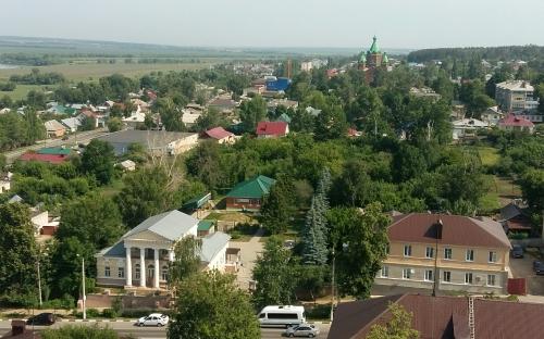 Задонск. Вид с колокольни на город