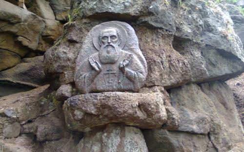Валаам. Икона прп. Александра Свирского