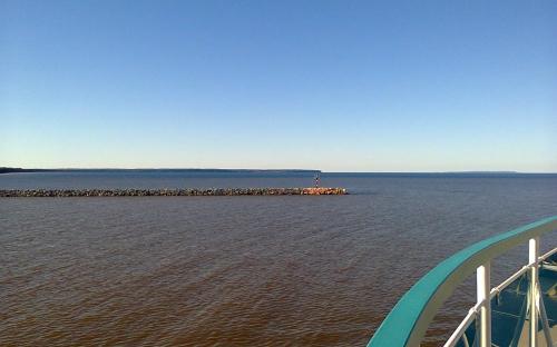 Выходим в Онежское озеро