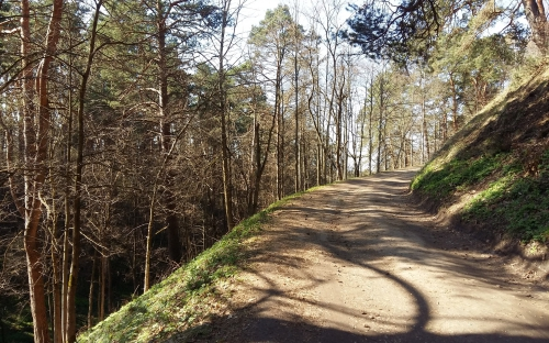 Звенигород. Дорога по крепостному валу
