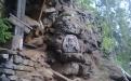 Валаам. При входе в пещеру прп. Александра Свирского