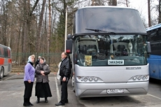 Наш автобус в Оптиной