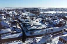 Вид на Суздаль с колокольни Ризоположенского монастыря