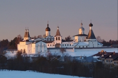 Вид на монастырь Рождества Богородицы в Ферапонтове